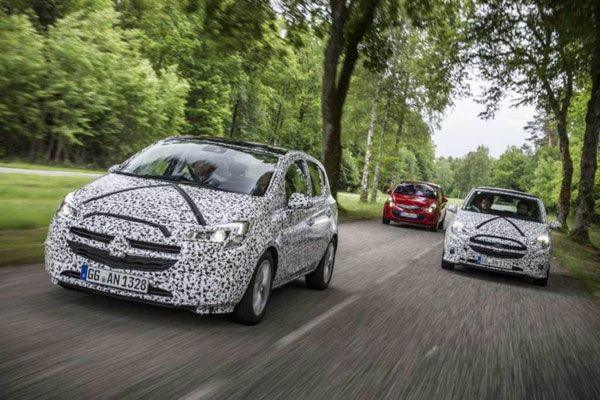 Novo Opel Corsa 2015 - Fotos e vídeo do flagra oficial do modelo